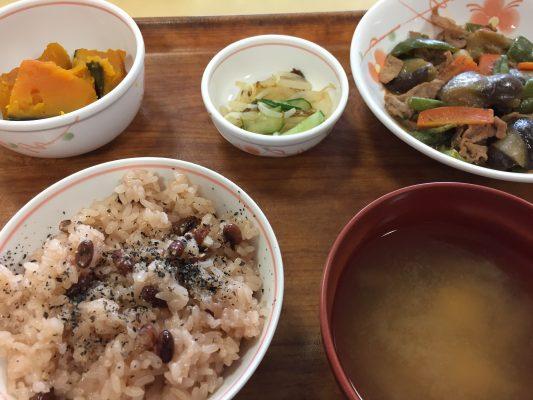 本日の献立:豚肉と野菜の味噌炒めとかぼちゃの煮物